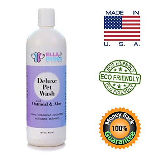 All Natural Dog Shampoo & Conditioner with Oatmeal and Aloe - Professional Grade Pet Wash for Dogs, Cats and Horses - Cleans, Conditions, Deodorizes, Moisturizes, Detangles, Fresh Scent, Gentle