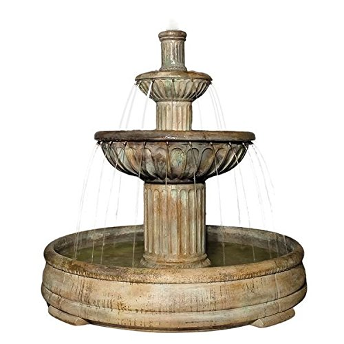Henri Studio 4 Piece Fluted Fountain, Natural