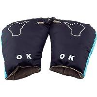 per Guantes Térmicos para Motocross y Bicicletas Manoplas Impermeables de Invierno Guantes de Oxford