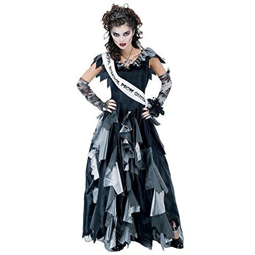 Forum Novelties Women's Zombie Prom Queen Costume, Black/Gray, Standard