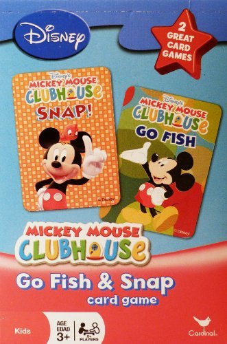 (Disney Mickey Mouse Clubhouse Go Fish and Snap Card Games by Cardinal)