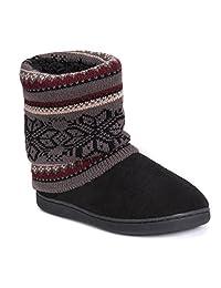 MUK LUKS Raquel Zapatillas de Estar en casa de Mujer Gris Oscuro Pantuflas para Mujer