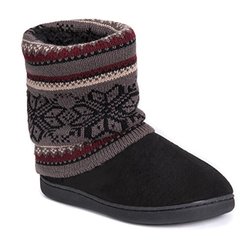 Pictures of MUK LUKS Women's Raquel Slippers-Charcoal, Medium M US 9