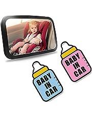 Kaiyingxin 2 stycken baby ombord skylt för bil, magnetisk baby i bilklistermärken vattentät, självhäftande vinyl varning klistermärken