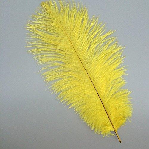 Lot de 10pcs Plume Artificielle Décoration Pour Costume Chapeau Artisanat Jaune