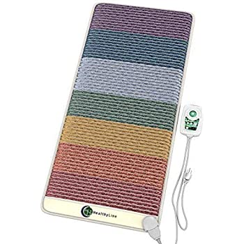 HealthyLine PEMF Infrared Crystal Rainbow Chakra Mat - Cleansing and Balancing Chakras 40in x 20in (Small)