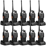 Retevis H-777 Walkie Talkies UHF Long Range Rechargeable 2 Way Radio 16CH Portable Handheld Emergency Two Way Radios Set (10 Pack)