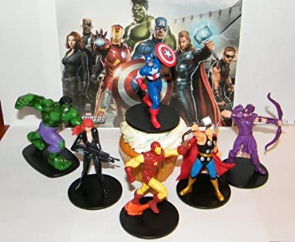 Amazon.com: Marvel Vengadores Movie superhéroe Figura Cake ...