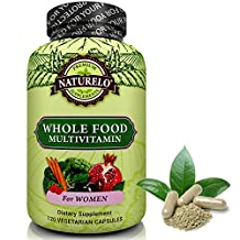 NATURELO Whole Food Multivitamin for Women - Top Ranked - Natural Vitamins, Minerals, Raw Organic Extracts - Best Supplement for Energy, Immune Support, Heart Health - Vegan - Non GMO - 120 Capsules