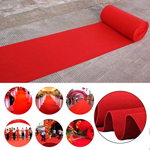 16ft Celebrity Red Carpet Garden Wedding Aisle VIP Party Floor Runner Decor USA from Unknown
