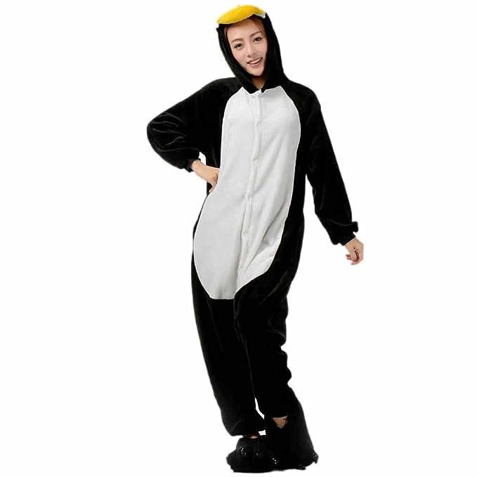 Xiahbong Unisex Cálido Pijamas para Adultos Cosplay Animales de Vestuario Ropa de dormir Halloween y Navidad