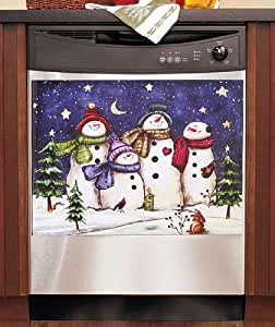 Dishwasher Magnet Art - Snowman