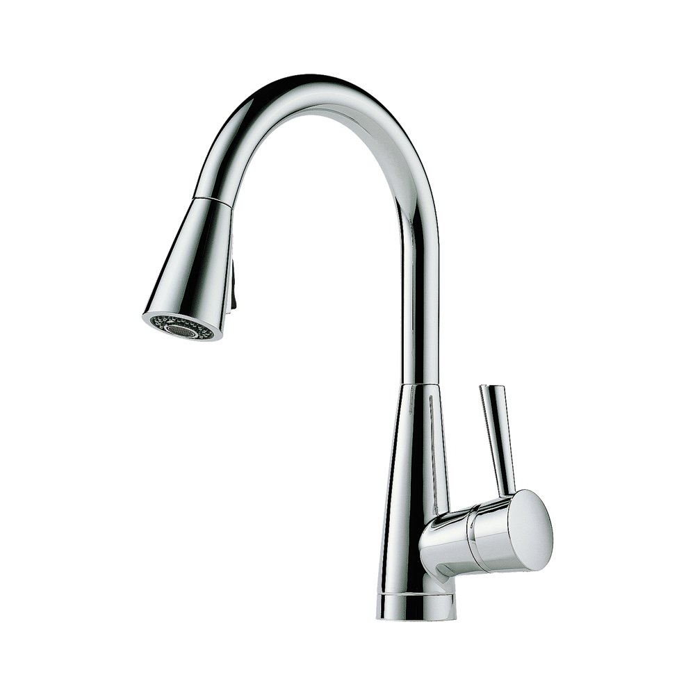 Brizo 63070LF-PC Venuto Kitchen Faucet Single Handle Deck Mount Pull ...