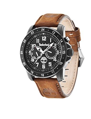Timberland 14109JSB-02 Mens Bellamy Brown Leather Strap Watch