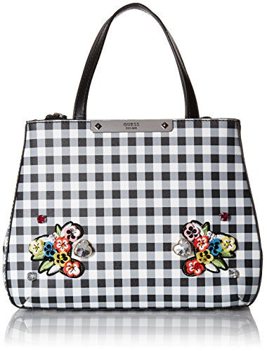 - GUESS Britta Checker Small Society Satchel , One Size