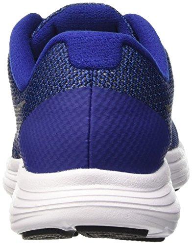 Nike Kids Revolution 3 (gs) Hardloopschoenen Deep Royal Blue / Metallic Cool Grey / Black