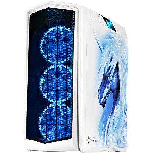 SilverStone Technology ATX Gaming Tower Case with Tempered Glass RGB Lighting and Graphics Side Panel (PM01W-FX)