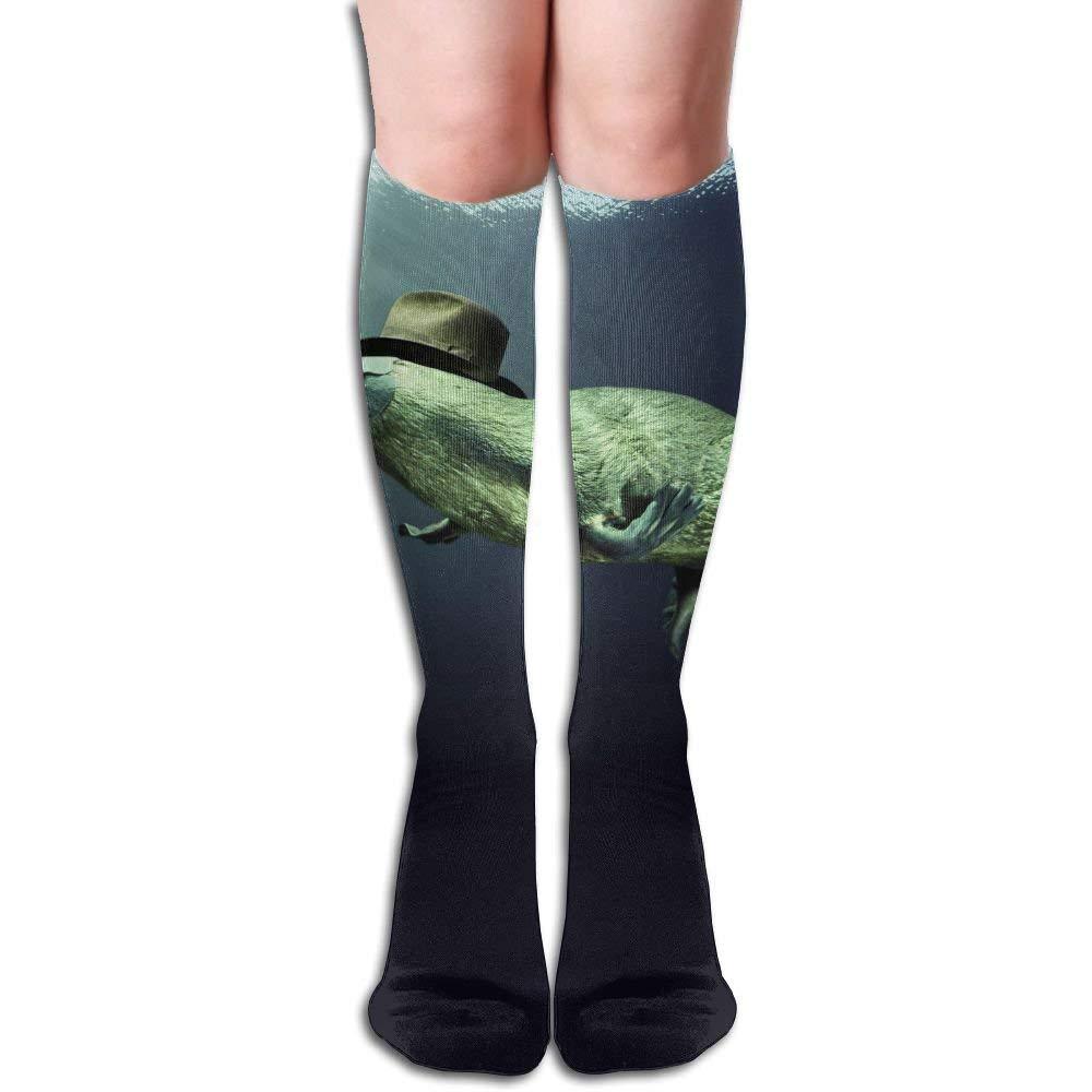 3d Platypus Underwater Outdoor Running Long Socks NoveltySock60cm Fond dream