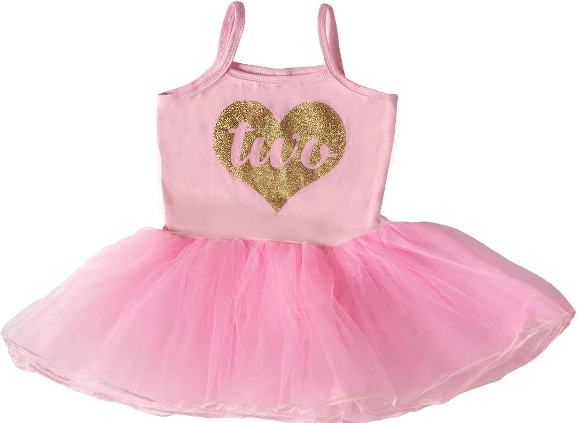 Scarlett Gene Baby Girl Second Birthday Outfit, Light Pink Heart Tutu Dress, 2nd Birthday Party