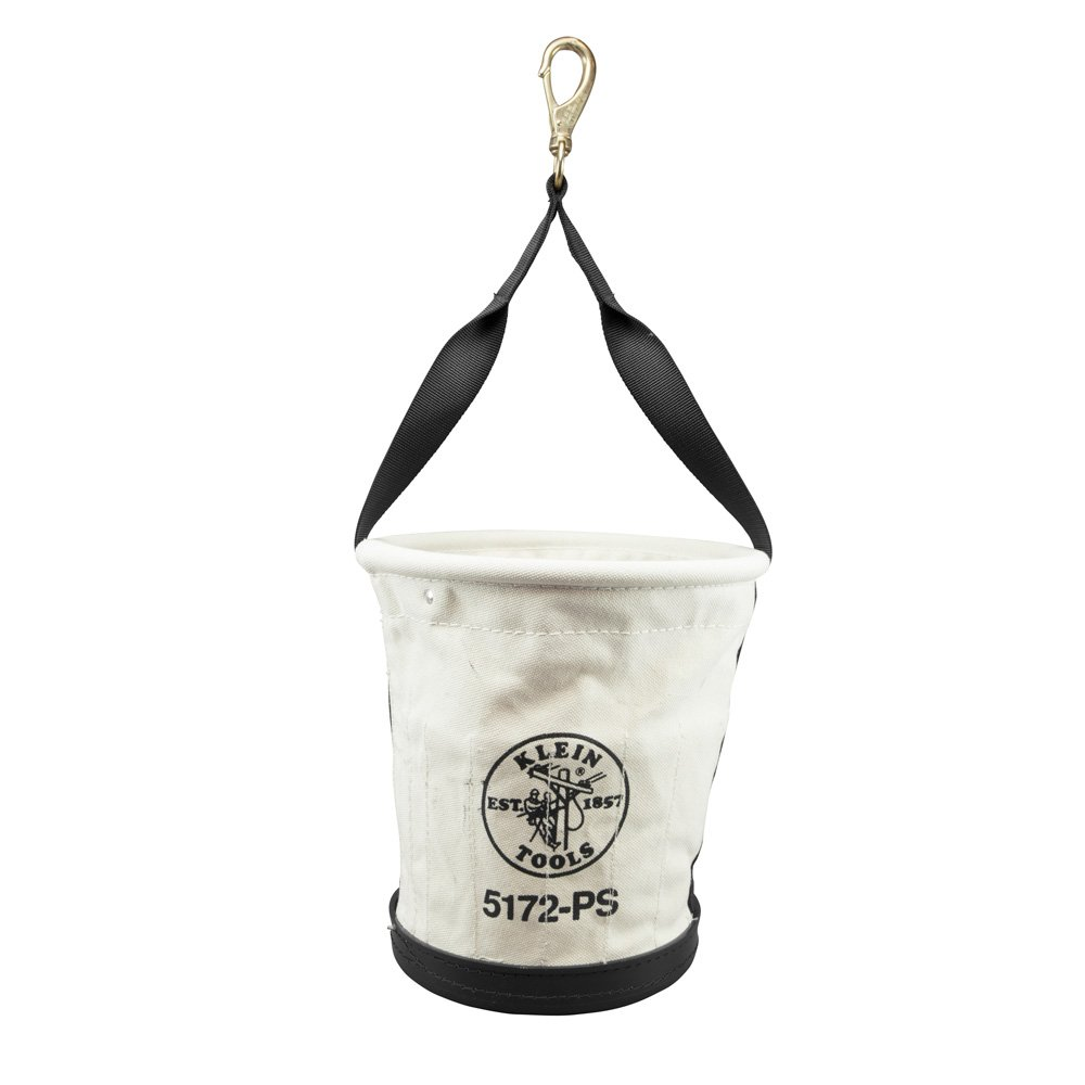 Heavy-Duty Tapered-Wall Bucket with 15 Inside Pockets, No. 4 Canvas Klein Tools 5172PS by Klein Tools