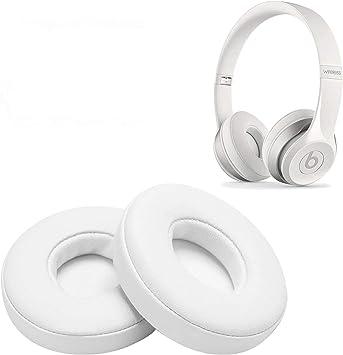 Reemplazo de Almohadillas, WADEO 2 Piezas Cojín de Almohadillas de Espuma para Beats Solo 2.0 Auriculares con Cable/inalámbricos(Blanco-Inalámbrico): Amazon.es: Electrónica