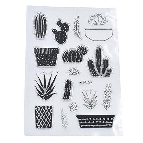 - Towashine Clear Stamps Cactus Rubber for Card Making Scrapbooking Supplies Crafts Photo Albums 4 x 6 Inch