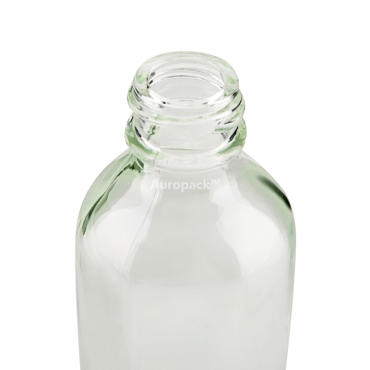 Pack of 12 Auropack 30ml 1oz Clear Boston Round Bottle with Cap
