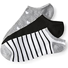 Aeropostale 3-Pack Heart, Stripe & Solid Ankle Socks