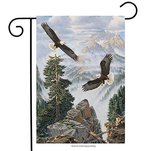 Briarwood Lane Eagles in Flight Summer Garden Flag Nature Wildlife Bald Eagle 12.5