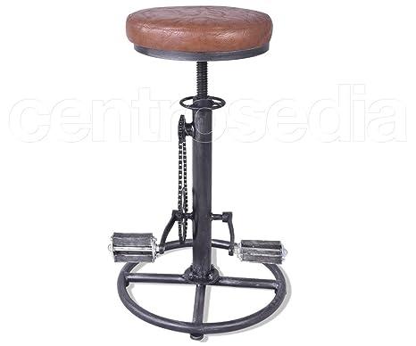 Centrosedia sgabello chain bicicletta in stile vintage industrale