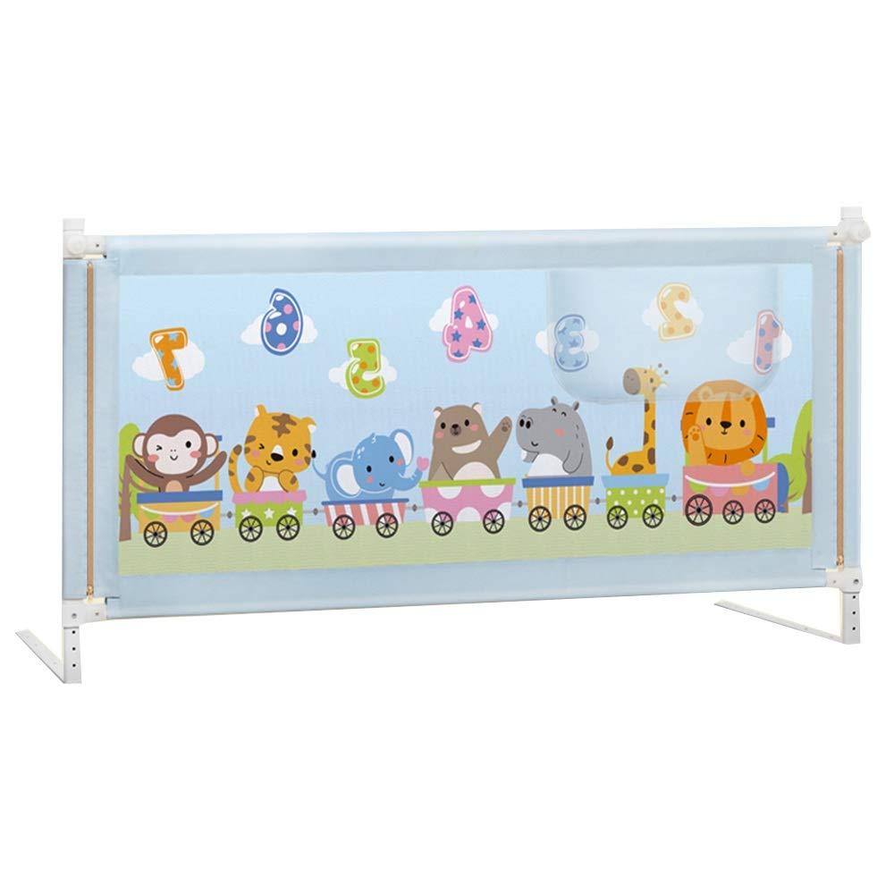 DD ベビー&マタニティ/ベビー布団寝具/ベッドガードフェンス, ベッドの柵、ロック-1.2 / 1.5 / 1.8 / 2.0 / 2.2Mと調節可能な縦の持ち上がる子供の安全サイドレールの高さ -子供を守る (色 : A, サイズ さいず : 1.8m) 1.8m A B07PS251YG