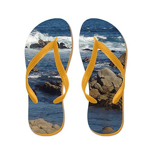 CafePress California Ocean 02 - Flip Flops, Funny Thong Sandals, Beach Sandals Orange