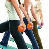 STOTT PILATES Toning Ball, Two-Pack (Orange), 1 lbs