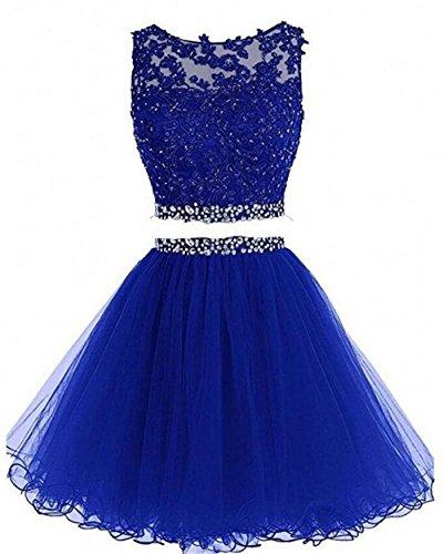(Dydsz Women's Prom Dress Short Homecoming Party Dresses Juniors 2 Piece 2019 A Line D127 RoyalBlue 6)