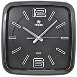 CLG-FLY Square solid scale classic wall clock,Brown,12 inch