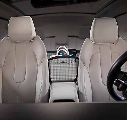 Alronth Universal Car Seat Storage Mesh/Organizer - Mesh Cargo Net Hook Pouch Holder Interior Accessories for Purse Bag Phone Pets Children Kids Disturb Stopper