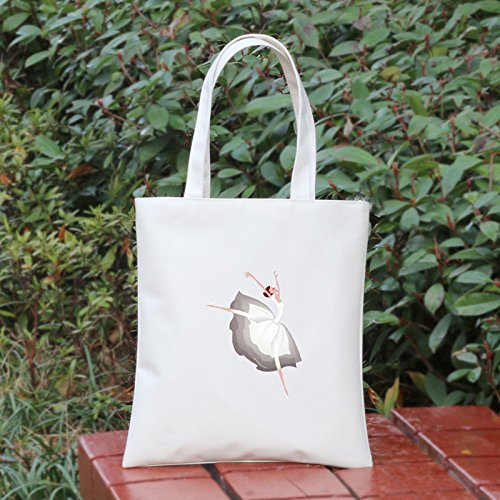 DJBHNZZZ Bag Bolsa De Tela Oxford Mujer Bolso Bolso Bolsa Escolar Fresh Art Shopping Bag D White E white