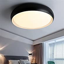 Modern LED Pendant Flush Mount Ceiling Fixtures Light LED round ceiling lamp personalized simple black and white acrylic lamp ceiling, 480mm