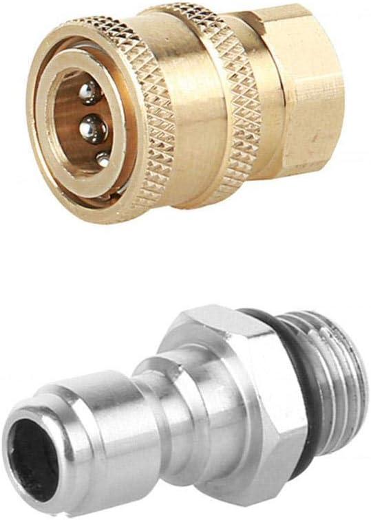 Paradesour Lavadora a presión Lavadora de automóviles Adaptador de Enchufe de latón M14 1.5 Macho 1/4