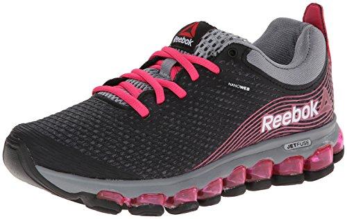 Reebok Women's Zjet Running Shoe,Graphite/Pink Fusion/Flat Grey/Black,8.5 M US