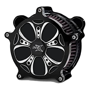 RC Components Airstrike Holeshot Eclipse Air Cleaner for 1997-2007 Harley-Davidson Touring, 1997 & Newer Softails & Dynas - AC-02C Holeshot Eclipse