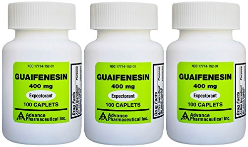 Mucus Relief Guaifenesin 400 mg 300 Tablets Generic for Mucinex Chest Congestion Immediate Release ()