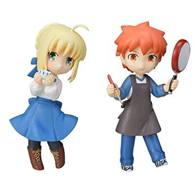 Today's Menu for The Emiya Family Shirou Emiya & Saber Altria Pendragon Character MDF Mini Display Figure Statue Sega Collection Set of 2: Toys & Games