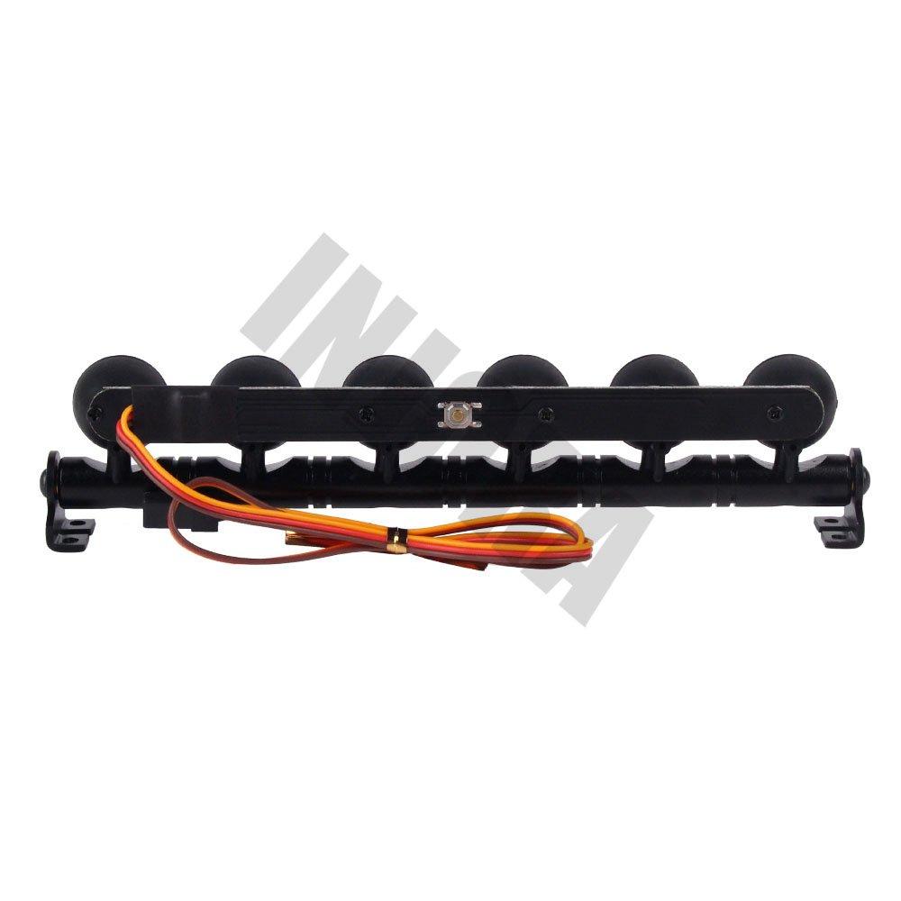 INJORA RC LED Lichtleiste 4er LEDs Beleuchtung Set f/ür 1:10 RC Crawler Traxxas TRX-4 RC4WD D90 Axial SCX10 90046 HSP Tamiya CC01 100mm