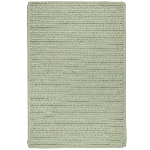 Colonial Mills LS15R036X060S Sunbrella Solid Area Rug, 3x5, Sage