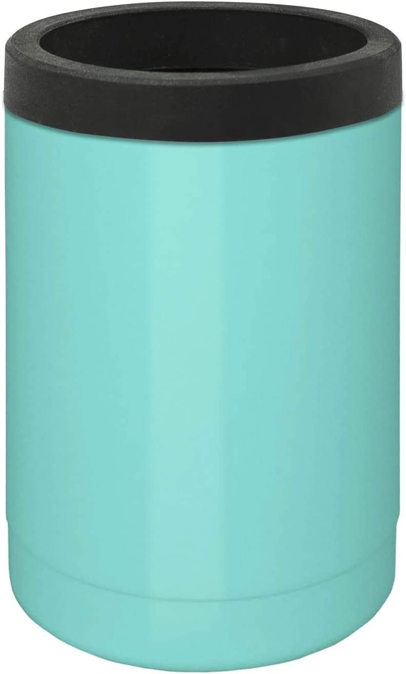 True North Stainless Steel Insulated Beer Holder, Can Cooler, Keeps Drinks Ice Cold For 12 Hours, Fits All 12 oz Cans and Bottles, Beach Seafoam