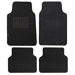 Highland 4660500 Pacific Coast Highway Black Luxury Carpet Floor Mat - 4 Piece