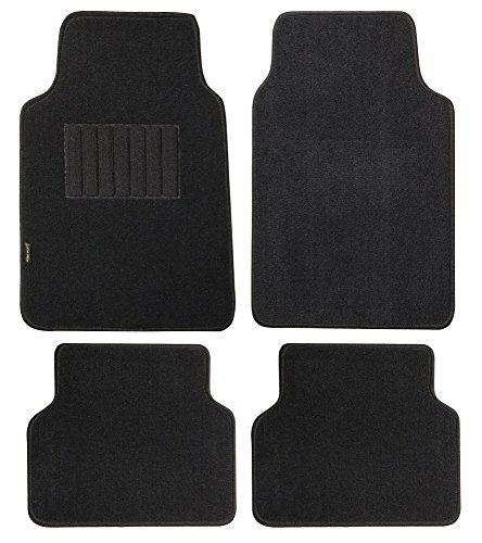 Auto Carpet Mats (Highland 4660500 Pacific Coast Highway Black Luxury Carpet Floor Mat - 4)