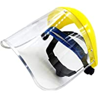 Dainerisy Safety Face Shield Clear PVC Replaceable Anti-impact Shield Full Mask Glasses Paint Eye Protector
