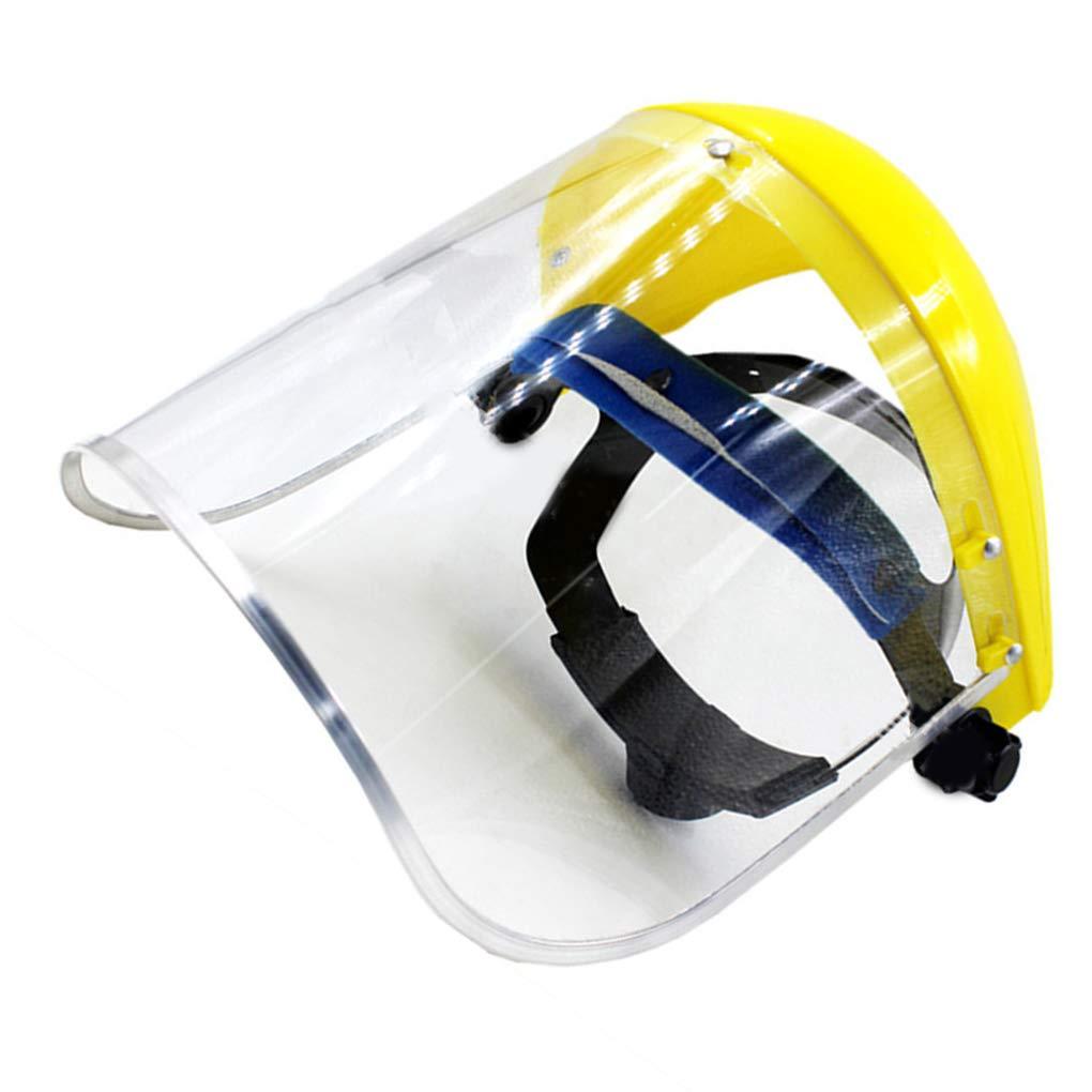 Pegcdu Seguridad careta de protecci/ón de PVC claro reemplazable anti-impacto Escudo Vasos completo m/áscara de pintura protector ocular